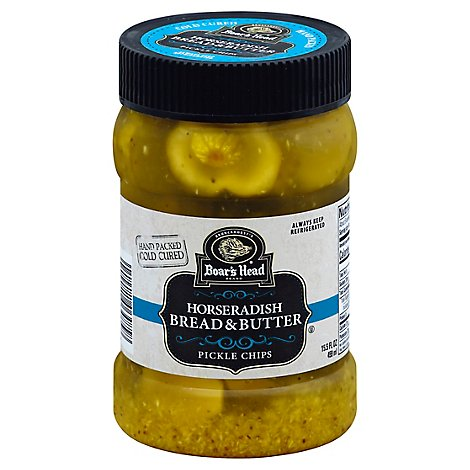 Boars Head Horseradish Pickle Chips - 15.5 Oz