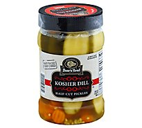 Boars Head Pickles Jar 1/2 Cuts - 26 Oz
