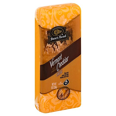 Boars Head Cheese Pre Cut Cheddar Yellow Vermont - 8 Oz