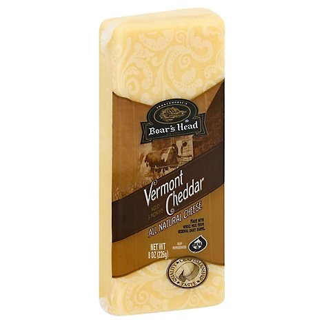Boars Head Cheese Cheddar Vermont White Pre Cut - 8 Oz