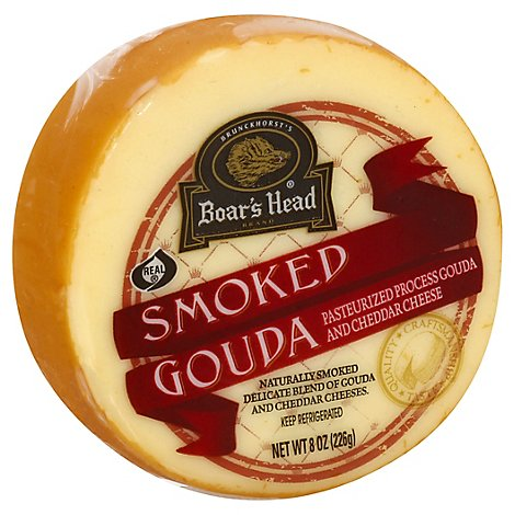 Boars Head Cheese Pre Cut Gouda Smoked - 8 Oz