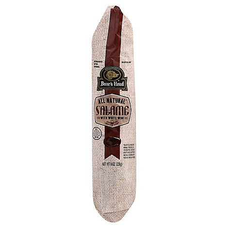 Boars Head Salame Natural With White Wine - 8 Oz