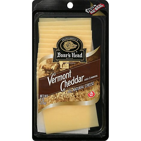Boars Head Cheese Cheddar Vermont White - 8 Oz