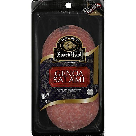 Boars Head Salami Genoa - 4 Oz