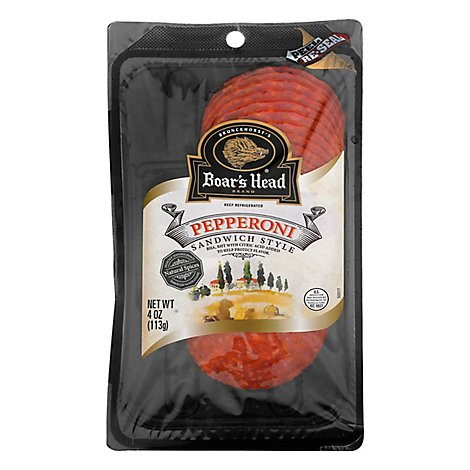 Boars Head Pepperoni Sandwich Style - 4 Oz