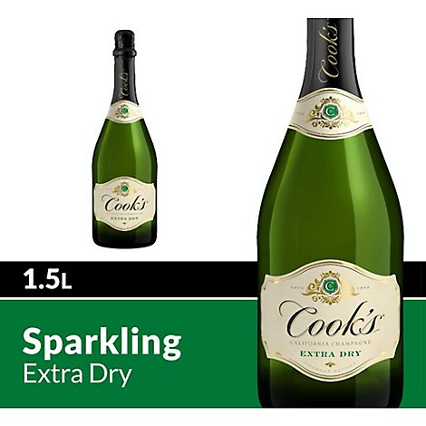 Cooks California Champagne Wine Sparkling White Extra Dry - 1.5 Liter
