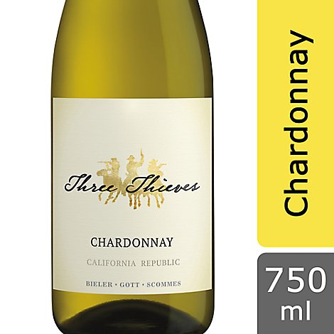 Three Thieves Chardonnay California Republic Wine - 750 Ml