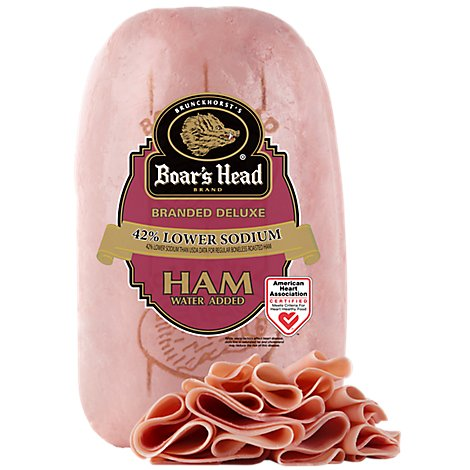 Boars Head Deluxe Ham 42% Lower Sodium - 0.50 LB