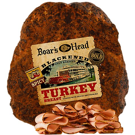 Boars Head Bold Turkey Breast Blackened Oven Roasted - 0.50 LB