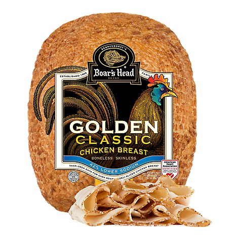 Boars Head Classic Golden Chicken Breast - 0.50 Lb.