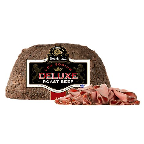 Boars Head Deluxe Beef Roast Beef Low Sodium - 1.00 LB