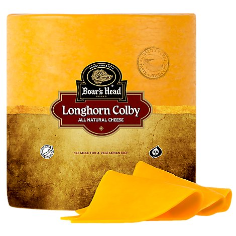 Boars Head Cheese Longhorn Colby - 0.50 LB