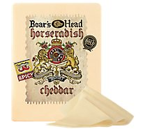 Boars Head Cheese Cheddar Horseradish - 0.50 LB