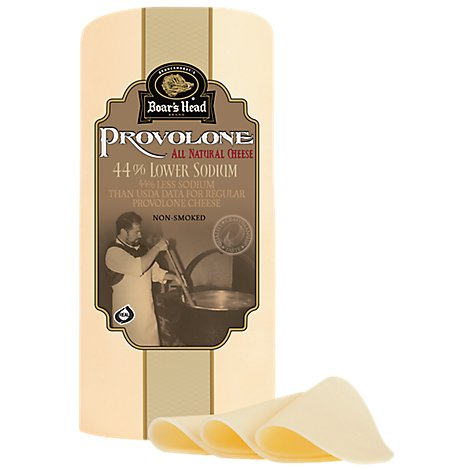 Boars Head 42% Lower Sodium Provolone Cheese - 0.50 Lb