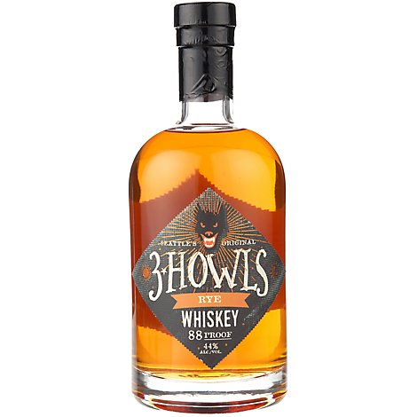 3 Howls Rye Whiskey - 750 Ml