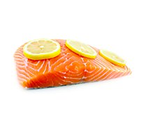 Seafood Service Counter Fish Salmon Atlantic Portion Fresh