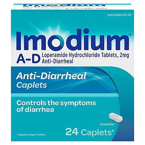 Imodium Anti-Diarrheal Caplets - 24 Count