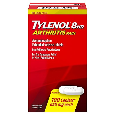 Tylenol Arthritis Pain Reliever Fever Reducer Caplet 650 Mg - 100 Count
