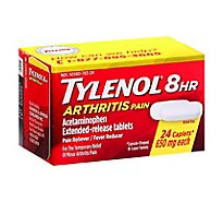 Tylenol Arthritis Pain Reliever Fever Reducer Caplet 650 Mg - 24 Count