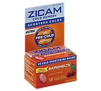 Zicam Ultra Cold Remedy RapidMelts Quick Dissolve Tablets Cherry Flavor - 18 Count
