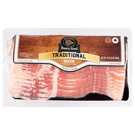 Boars Head Bacon Imported - 1 Lb
