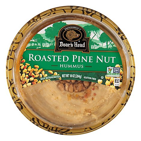 Boars Head Hummus Roasted Pine Nut - 10 Oz