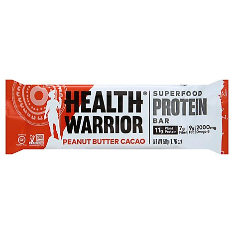 Health Warrior Chia Protein Bar Peanut Butter Cacao - 1.76 Oz
