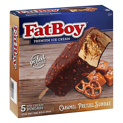 Fat Boy Sundae Caramel Pretzel - 5 Count