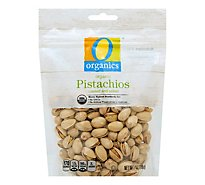 O Organics Organic Pistachios Roasted & Slated - 7 Oz