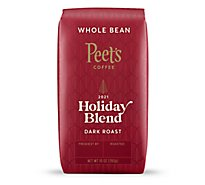 Peets Coffee Whole Bean Deep Roast Holiday Blend - 10 Oz