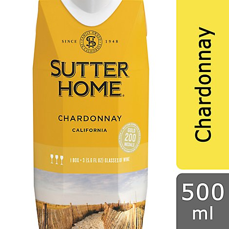 Sutter Home Wine Chardonnay California - 500 Ml