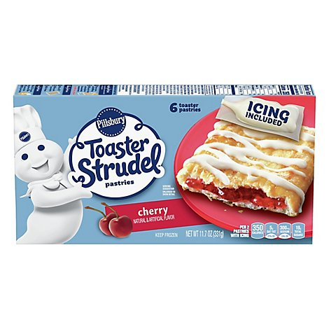 Pillsbury Toaster Strudel Pastries Cherry 6 Count - 11.7 Oz