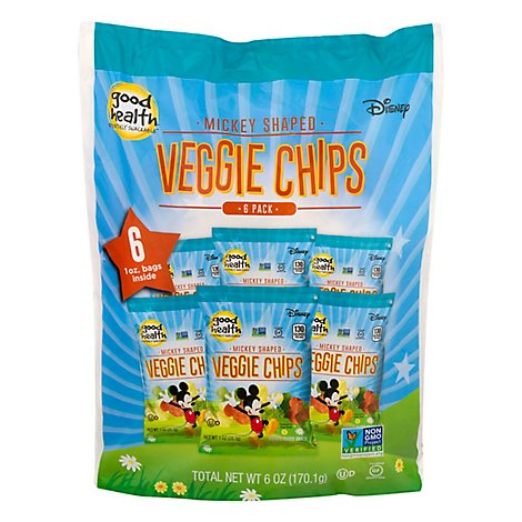 Good Health Veggie Chips Mickey Shaped - 6-1 Oz