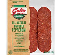 Gallo All Natural Pepperoni Uncured - 6 Oz