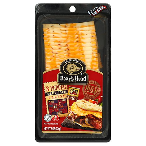 Boars Head Cheese Colby Bold 3 Pepper - 8 Oz