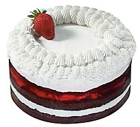 Bakery Cake Strawberry Boston White Ice Nondairy - Each