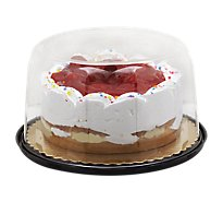 Bakery Cake Strawberry Boston White White Ice Nondairy - Each