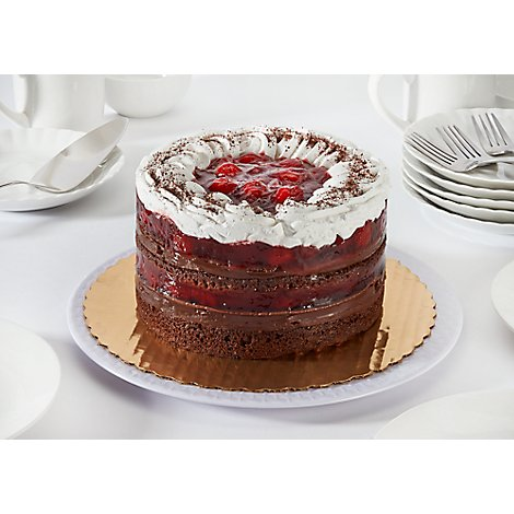 Bakery Cake Strawberry Boston Chocolate White Ice Nondairy - Each