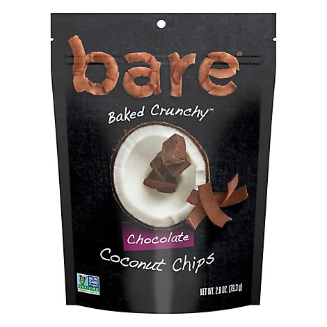 Bare Foods Coconut Chips Crunchy Chocolate Bliss - 2.8 Oz