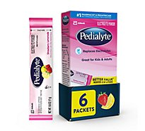 Pedialyte 6 pk Electrolyte Powder Powder Strawberry Lemonade - 0.6 oz