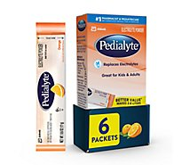Pedialyte Electrolyte Powder Orange - 6-0.6 Oz