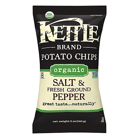 Kettle Potato Chips Organic Salt & Fresh Ground Pepper - 5 Oz