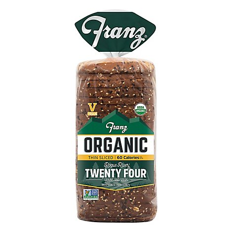 Franz Bread Organic Twenty Four Grains Thin Sliced - 20 Oz