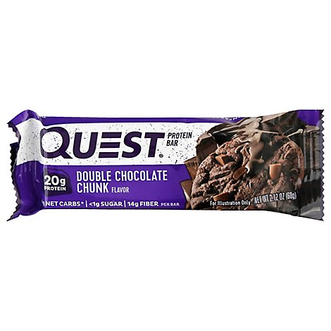Quest Bar Protein Bar Double Chocolate Chunk Flavor - 2.12 Oz