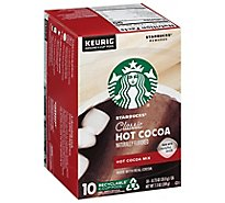 Starbucks Cocoa Hot K-Cup Pods Classic Box - 10-0.73 Oz