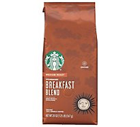 Starbucks Coffee Ground Medium Roast Breakfast Blend Bag - 20 Oz