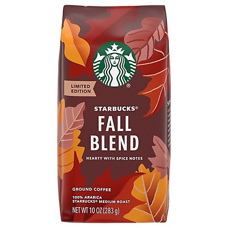 Starbucks Coffee Ground Medium Roast Fall Blend Bag - 10 Oz