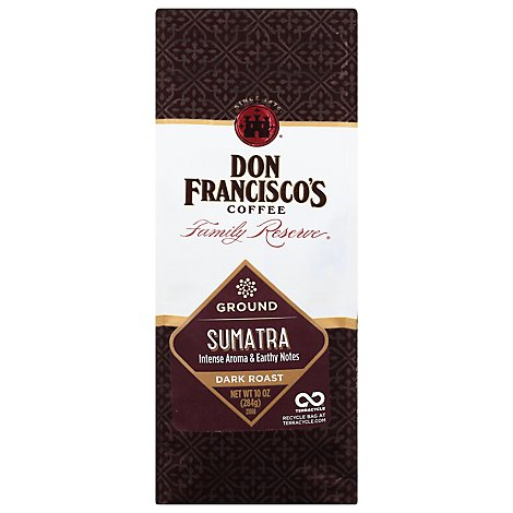 Don Franciscos Family Reserve Coffee Ground Dark Roast Sumatra - 10 Oz