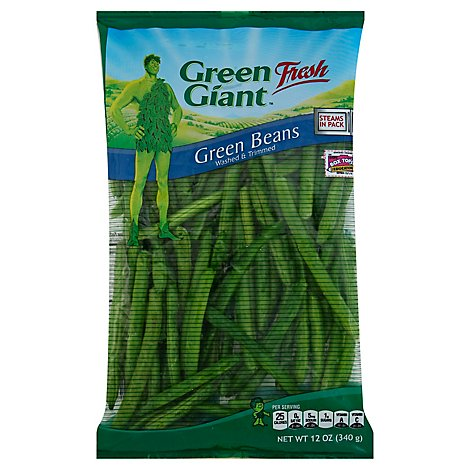 Green Giant Beans Green Steams Fresh In Pack - 12 Oz