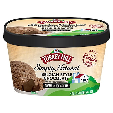 Turkey Hill Ice Cream All Natural Belgian Style Chocolate - 48 Oz